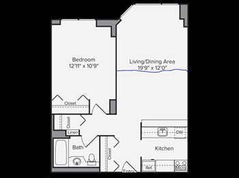 EasyRoommate US - 1 Bedroom Available in a 2 Bedroom Unit - Luxury Doorman Building, Theater District - $1,761 pm