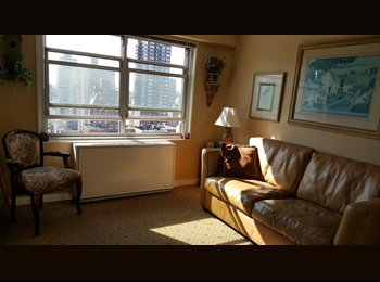 EasyRoommate US - Room for rent in luxury apartment building High floor, Lenox Hill - $1,200 pm