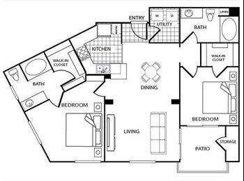 EasyRoommate US - SELLING: REGENTS COURT APARTMENTS: SPOT IN A DOUBLE (MASTER BEDROOM), University City - $635 pm