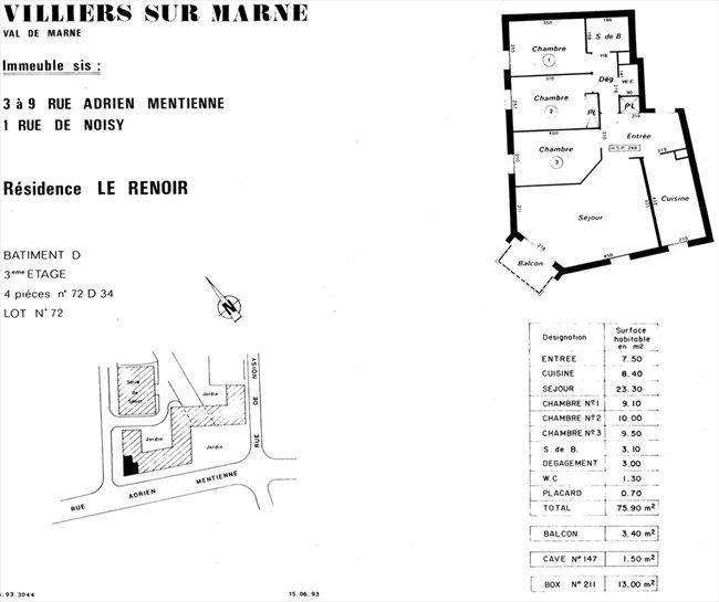 colocation villiers sur marne app 4 pp ensoleill et. Black Bedroom Furniture Sets. Home Design Ideas
