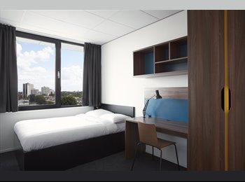 EasyKamer NL - Fully-Furnished Room with Private Bathroom at The Student Hotel, Rotterdam - € 783 p.m.
