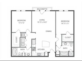 EasyRoommate US - 1119ft - ROOMMATE WANTED, private room+bath, Fourth Ward - $880 pm